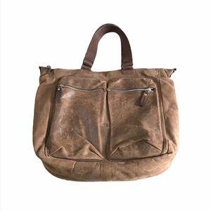 M0851 Brown Leather Bag